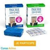 Testez l'absorbeur d'odeurs pour litières de chats  Magic Blue de Catit !