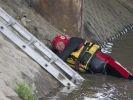 sauvetage chien sous pont