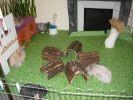 Grand parc à lapins