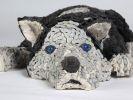 sculpture chien husky