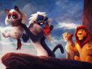Grumpy cat et roi lion