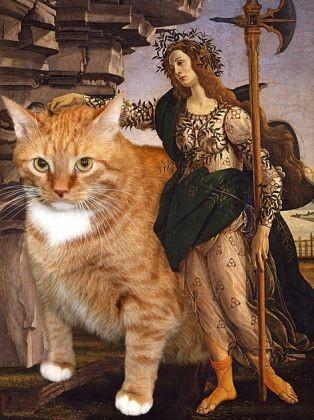 Pallas et le centuaure avec chat