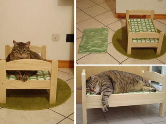 Le lit du chat du mobilier pour chat original photos page 9 wamiz - Lit pour chat design ...