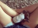 Une position bien confortable pour ce chiot