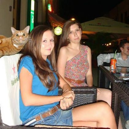 25 chats photobombing