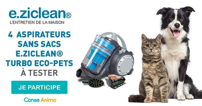 testez l'aspirateur e.ziclean turbo eco-pets pour votre chien ou