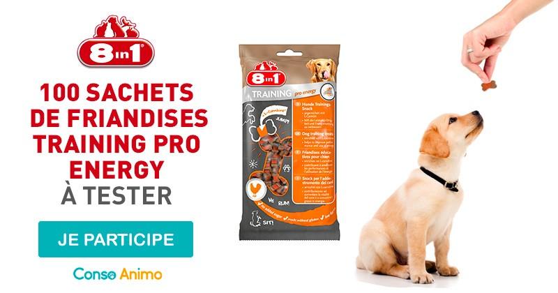 Testez les friandises pour chien 8in1 Training pro energy !