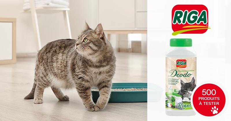Testez le désodorisant RIGA pour litières pour chats