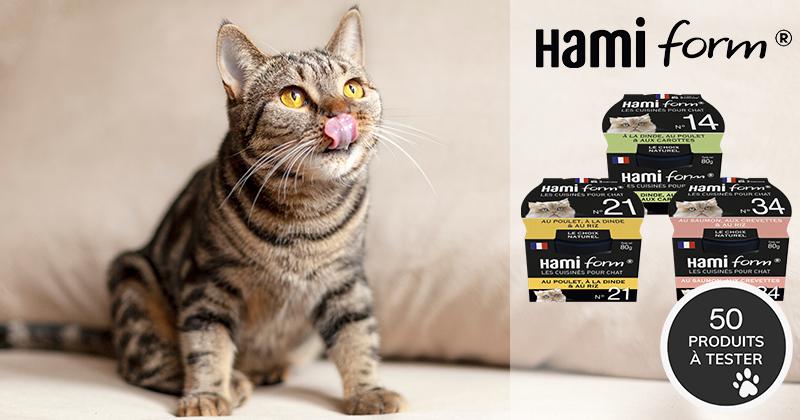 Testez Les Cuisinés Hamiform avec votre chat