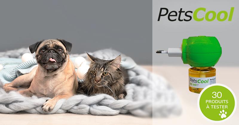 Testez gratuitement PetsCool Diffuseur avec votre animal