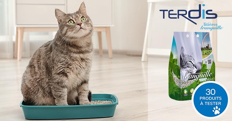 Testez gratuitement la litière Tranquille TOFU Recyclé avec votre chat