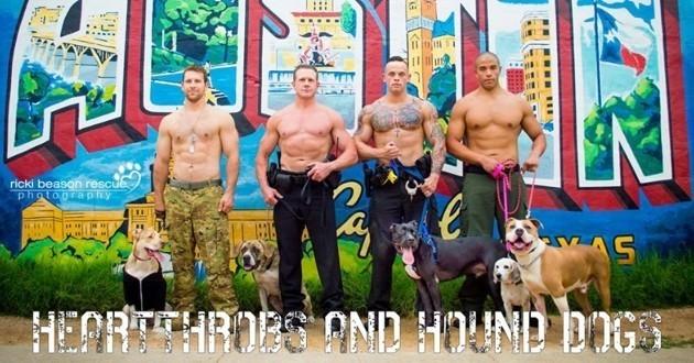 calendrier sauveteurs de chiens