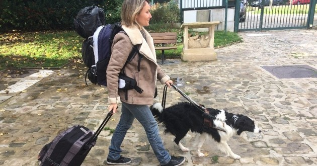 cindy et gap son chien guide