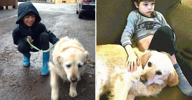 Noah et Glinka sa chienne