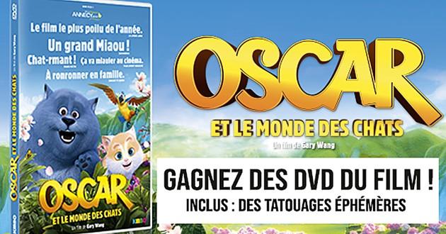 concours dvd Oscar et le monde des chats