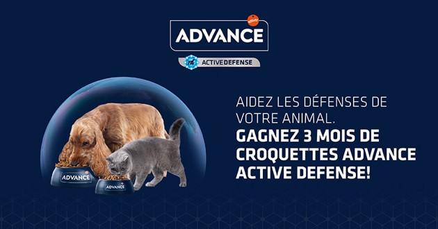 Concours ADVANCE ACTIVE DEFENSE croquettes pour chiens et chats