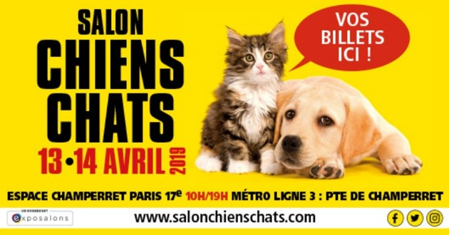 affiche du salon chiens chats 2019