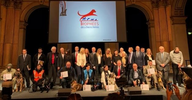 remise trophée des chiens héros