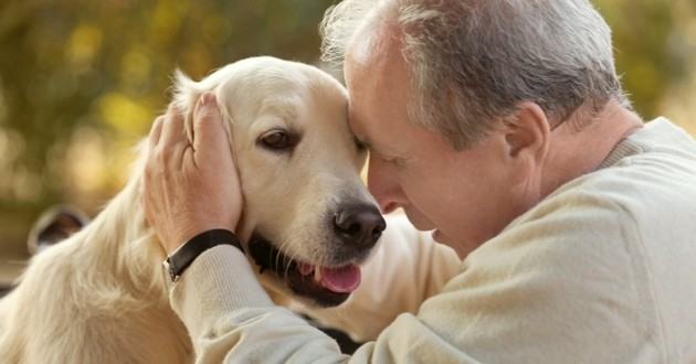 personne âgée chien