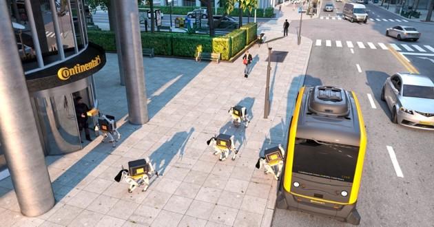 CES 2019 : Continental présente ses robots-chiens qui livrent les colis ! (vidéo)