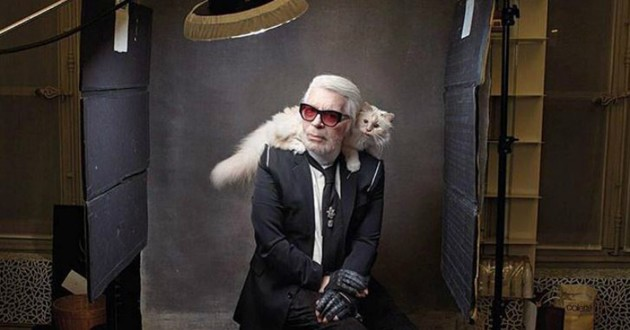 karl lagerfeld et son chat