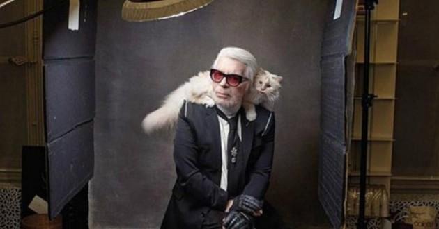 Choupette et Karl Lagerfeld