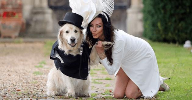 Elizabeth Hoad et son chien Logan