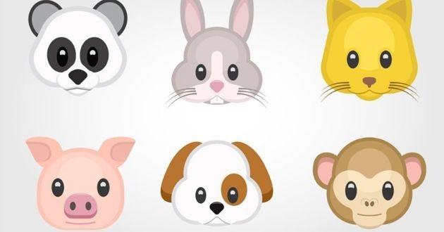 des animojis, des emojis d'animaux