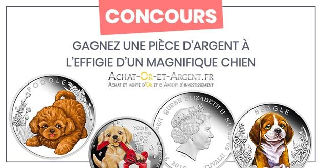 pièces de monnaie argent chiens