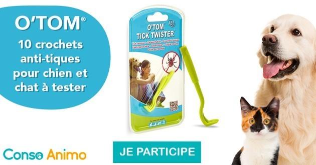 Test produit : essayez le crochet anti-tique O'TOM  Tick Twister pour chiens et chats