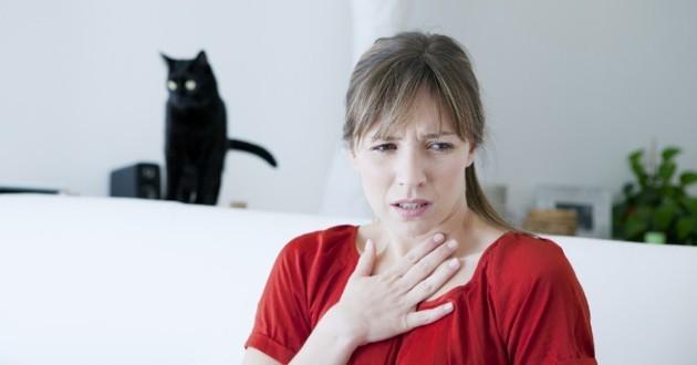 femme allergique à son chat