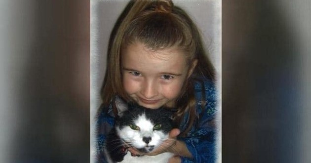 Hannah et son chat Spunky