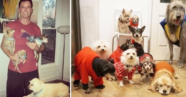 Comment un homme a sauvé de vieux chiens en leur consacrant sa vie