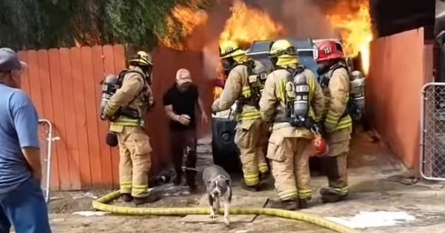 Jose et Gabanna sortant des flammes