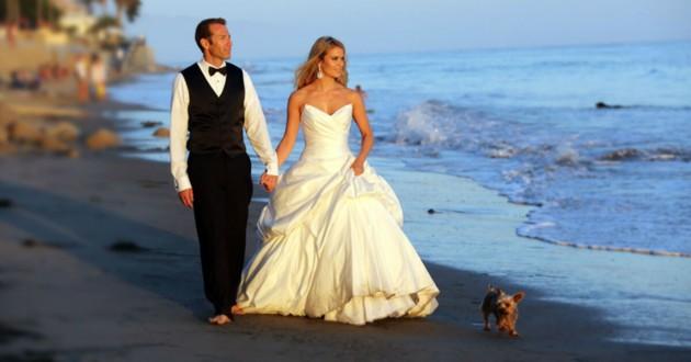 mariage chien plage