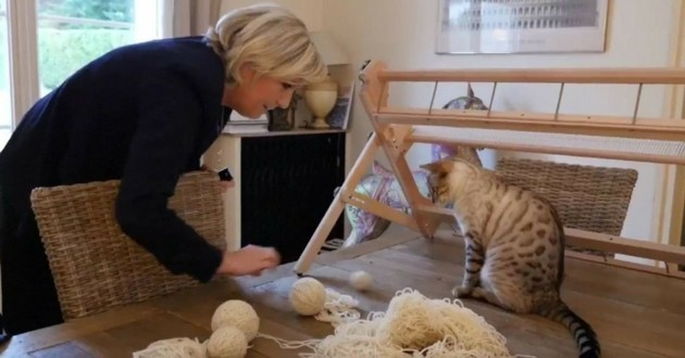 Marine Le Pen chats