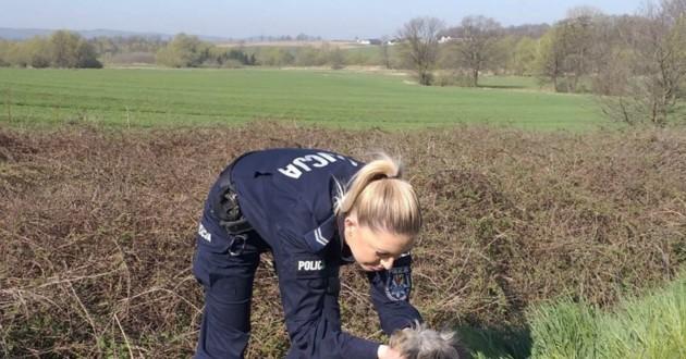 policière et chien