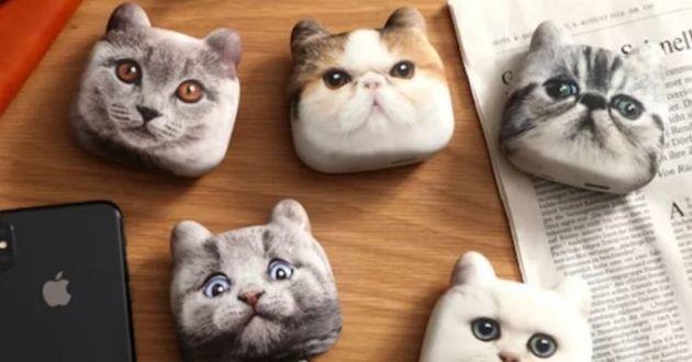 powerbank en forme de tête de chat