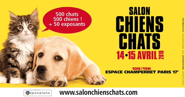 Concours Salon Chiens Chats 2018 : avez-vous gagné une place ?