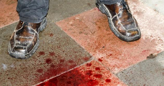sang sur le sol