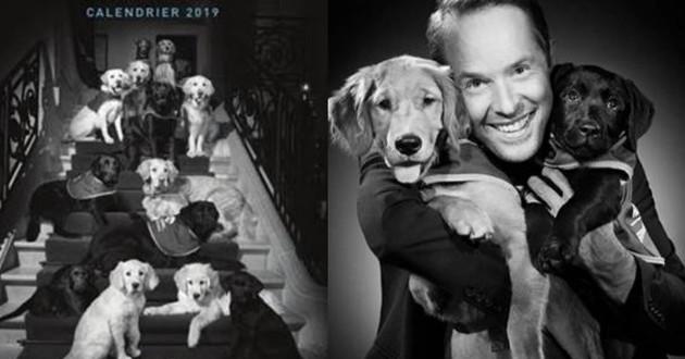 calendrier chien handi'chiens studio harcourt