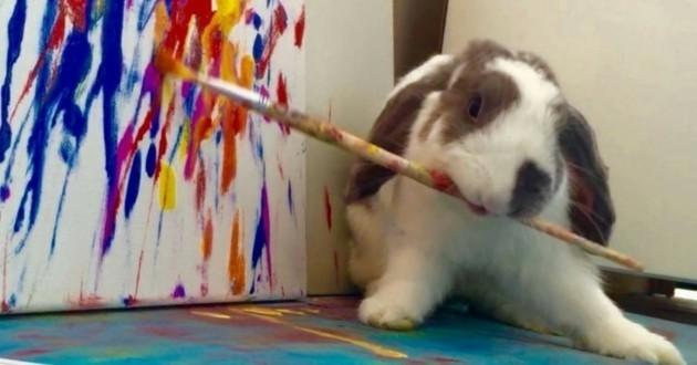 Bini lapin peint