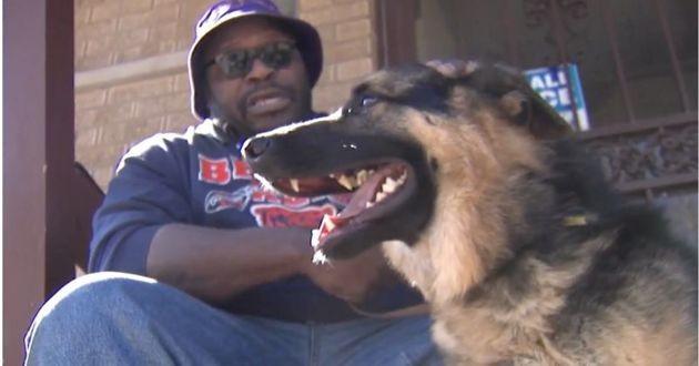 Kevin et son chien guide