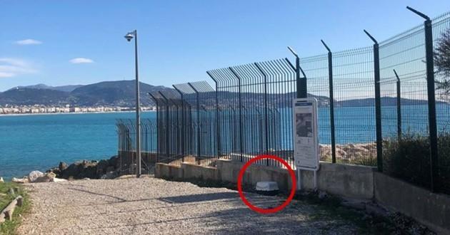 caisse de transport abandonnée à Nice