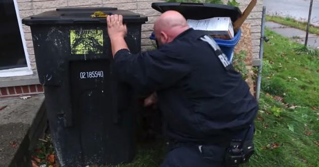 sauveteur poubelle
