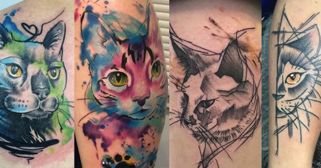 idées tatouages chats