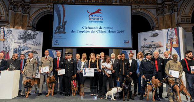 Photos des lauréats du Trophée des Héros 2019