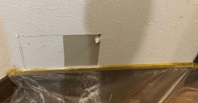 trou dans un mur