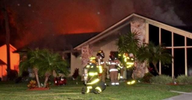 un chien héros sauve sa famille d'un incendie