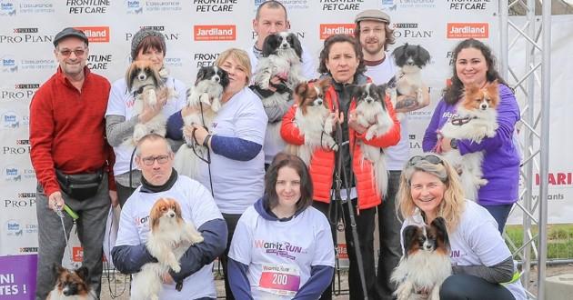 Les chiens et participants lors de la Wamiz run 2018